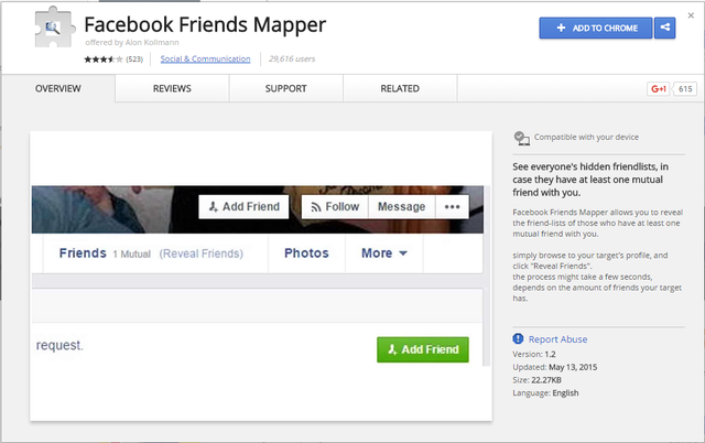 how to see mutual friends on facebook hidden
