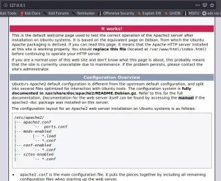 apache2 default page