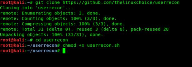 chmod +x userrecon.sh