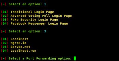 fake security login page