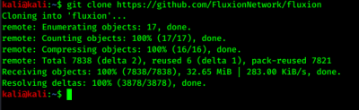 clonning fluxion from GitHub