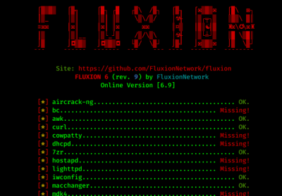 fluxion installing requirements